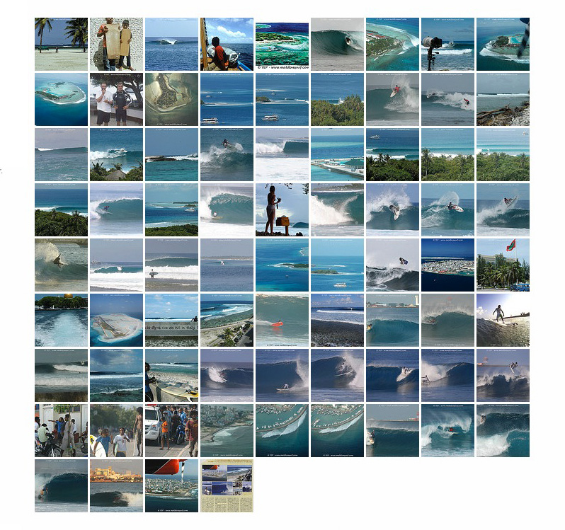 North Malé surf spots and breaks